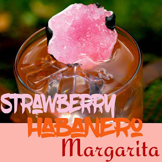 Strawberry and Habanero Flavored Spicy Margarita.