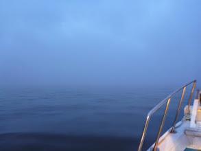 Photo: 今日は「霧」。 50mぐらいしか視界ありません。 まわりに気を配りながら がんばりましょっ!