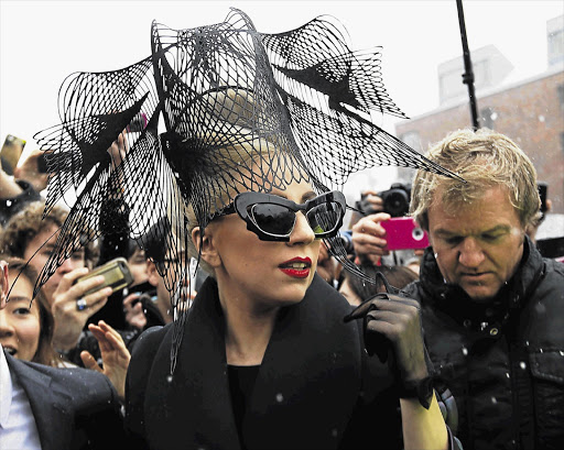 Lady Gaga arrives at Harvard University to launch her Born This Way Foundation Picture: BRIAN SNYDER/REUTERS