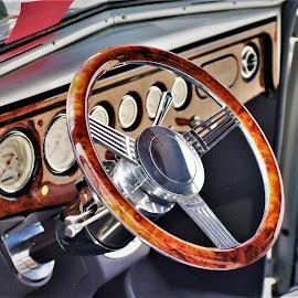 Sweet Wheel by Benito Flores Jr - Transportation Automobiles ( texas, car show, street rod, ennis, steering wheel )