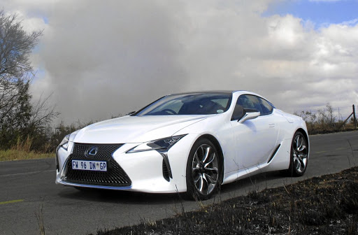 Lexus appears to be working on a more powerful version than this LC500, likely to be the LC-F. Picture: MARK SMYTH