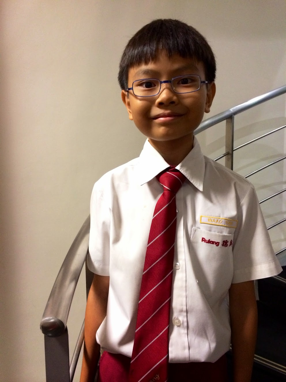 Isaac Tan, Rulang Primary School prefect.
