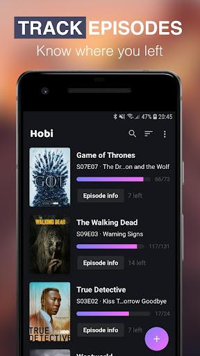 Hobi: TV Series Tracker, Trakt Client For TV Shows screenshots 2