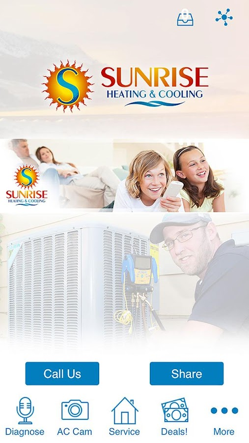 Sunrise Heating & Cooling- screenshot
