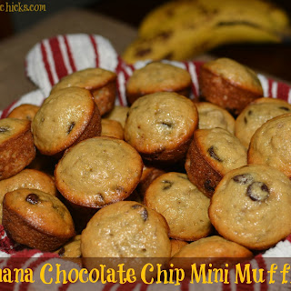 Banana Chocolate Chip Mini Muffins