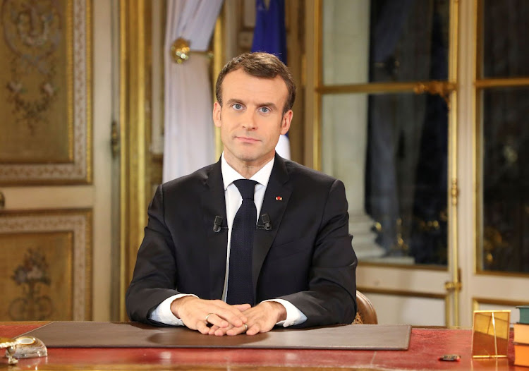 French President Emmanuel Macron. Picture: LUDOVIC MARIN/POOL VIA REUTERS