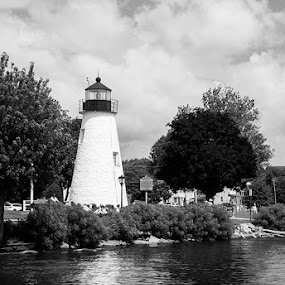 Concord Lighthouse by Stephen Majchrzak - Black & White Buildings & Architecture