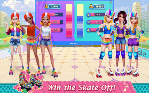 Roller Skating Girls - Dance on Wheels game (apk) free download for Android/PC/Windows screenshot