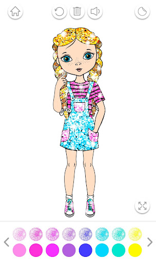 Girls Coloring Book for Kids Glitter apkpoly screenshots 3