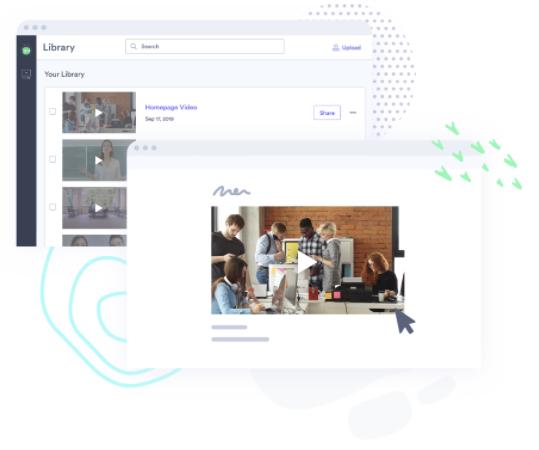 Vidyard interface screenshots
