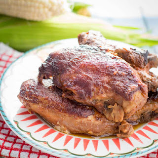 Crock Pot BBQ Chicken with Applesauce