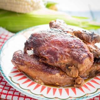 Crock Pot BBQ Chicken with Applesauce