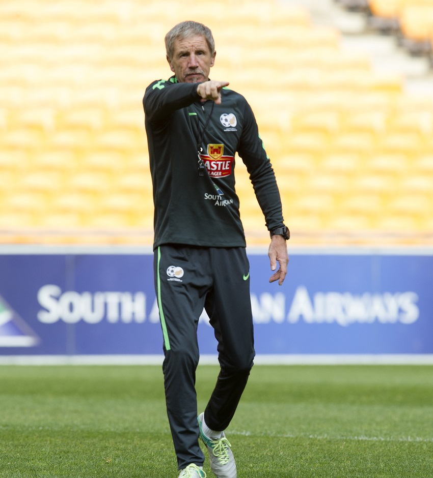 Stuart Baxter, coach of South Africa during the 2018 FIFA World Cup Qualifier South Africa training session at Peter Mokaba Stadium, Polokwane on 08 November 2017.
