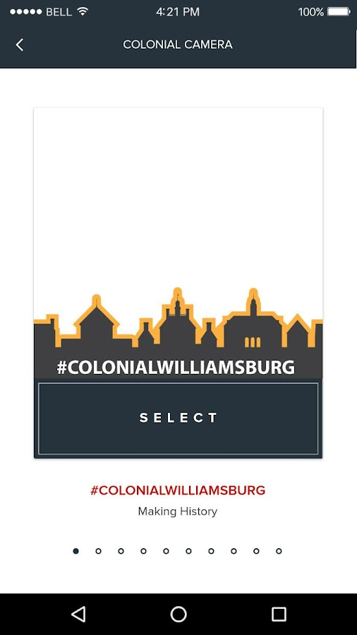 Colonial Williamsburg Explorer– skärmdump