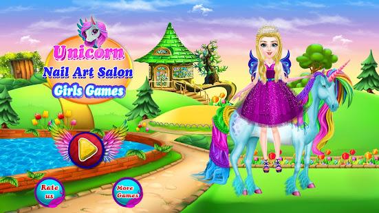 Unicorn Nail Art Salon Girls Games Apps On Google Play