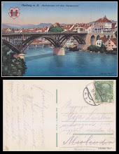 Photo: Marburg - Reichsbrücke mit dem Theresienhof - colectie Remus Jercau - colaj