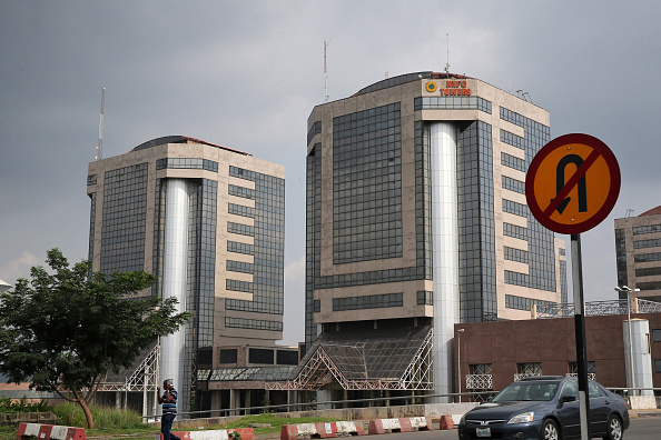 The head offices of the Nigerian National Petroleum Corp. stand in Abuja, Nigeria. Picture: BLOOMBERG/ GETTY/ GEORGE OSODI