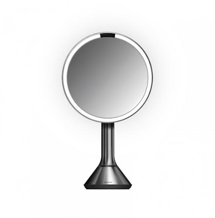Sensorstyrd Sminkspegel med Belysning Simplehuman  5x Förstoring, reglerbar ljusstyrka via touch, borstat stål