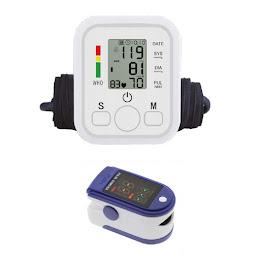 Tensiometru electronic de brat + Pulsoximetru