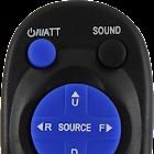 Controle remoto para rádio de carro JVC icon