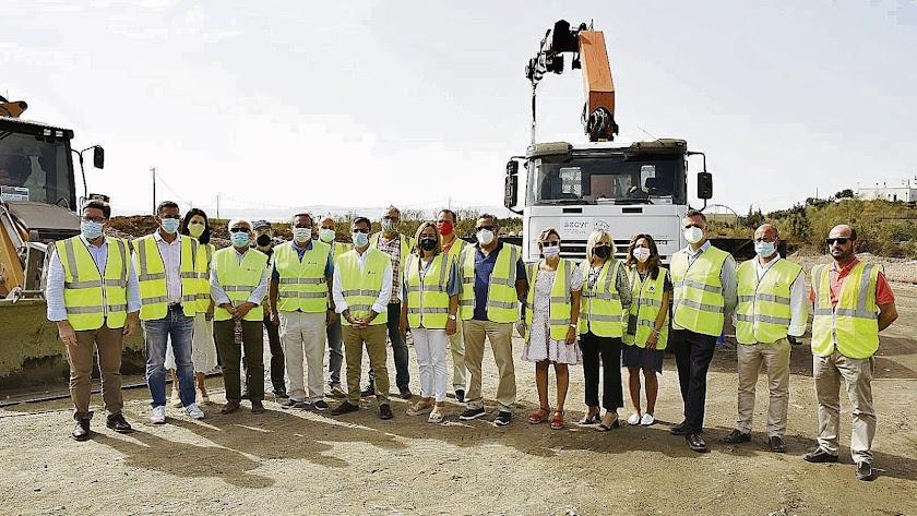 Visita a obras del AVE en la provincia de Almería el pasado mes de agosto.