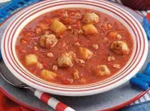 Alphabet Meatball Soup Recipe