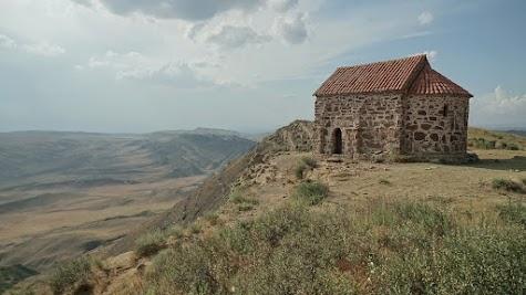 Kapelle auf dem Berg Udabno.