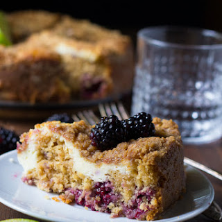Blackberry-Lime Cream Cheese Coffee Cake
