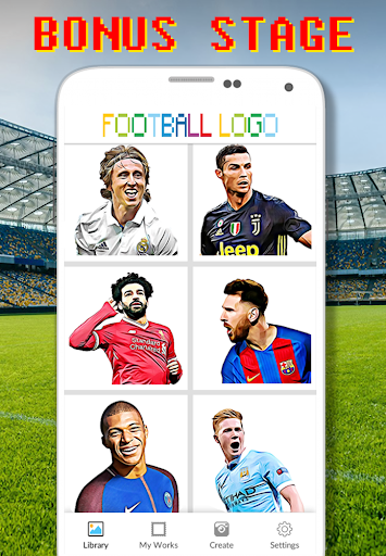 Football Logo Coloring By Number - Pixel Art screenshots 4