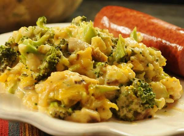 Layered Broccoli-rice Casserole...(no Canned Soup)