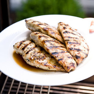 Perfectly Grilled Chicken Breasts with Garlic, Lemon & Herbs.