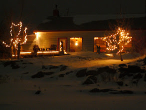 Photo: snowy night