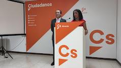 Marta Bosquet y Andrés Samper durante la rueda de prensa.