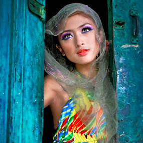 Colorful Beauty by Mario Wibowo - People Portraits of Women ( model, frame, pattern, lumix, mario wibowo, lx3, portrait. color, fotorio )