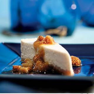 Greek Yogurt Cheesecake With Ouzo-Poached Figs.