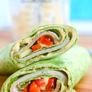 Turkey Hummus Sandwich Wraps.