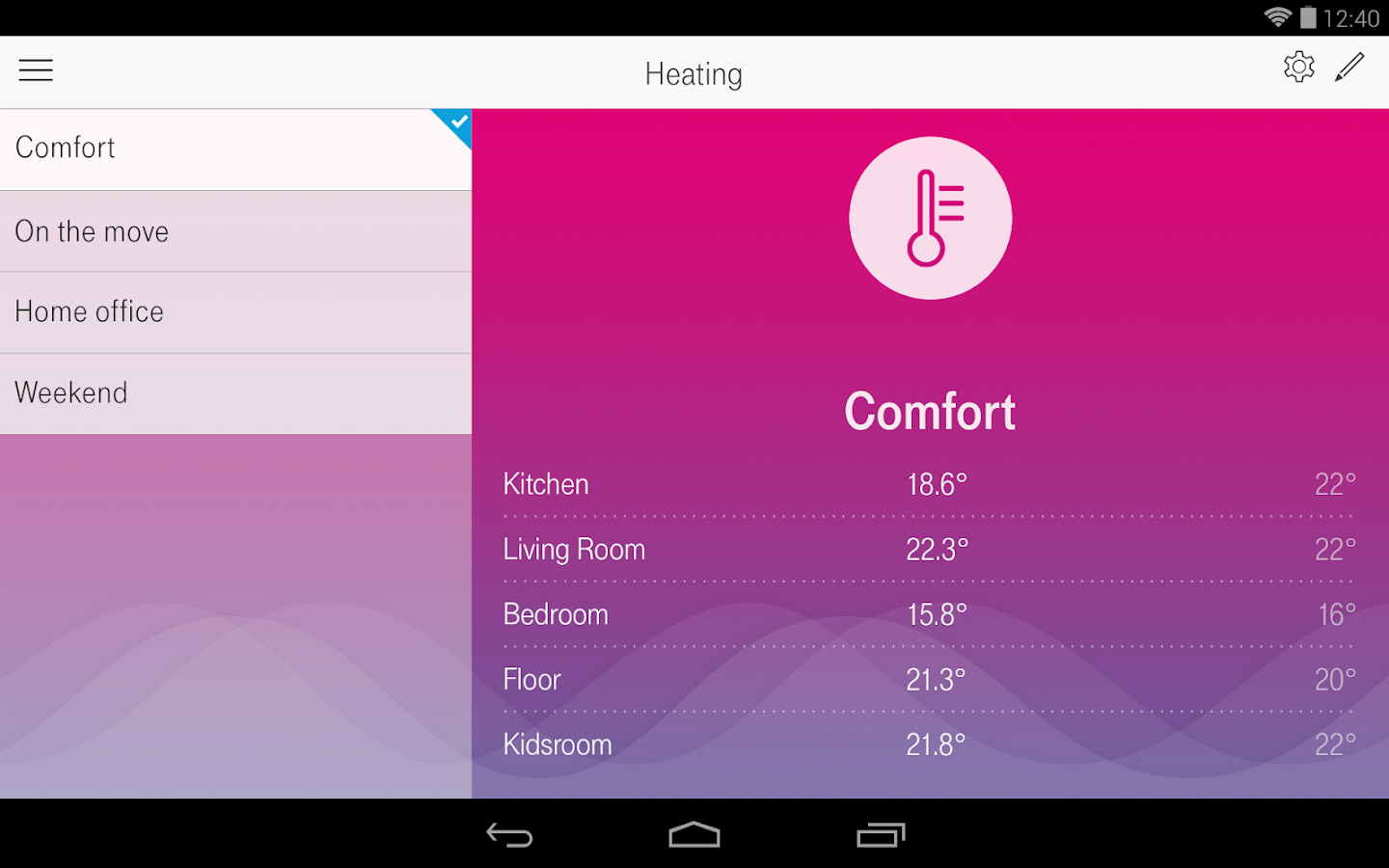 Magenta SmartHome- screenshot