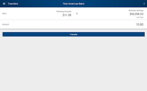 First American Bank Mobile screenshot 7