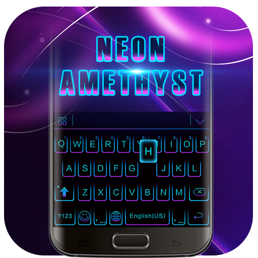 Black Neon 3D Keyboard Theme Icon