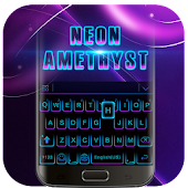 Flawless Amethyst Neon Keyboard 3D Theme