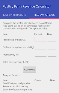 Poultry Farm Revenue Calc- screenshot thumbnail