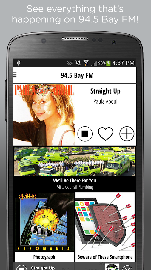 94.5 Bay FM- screenshot