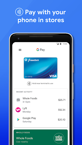 Google Pay: Pay with your phone and send cash Android App Screenshot