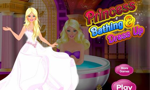 プリンセスお風呂とドレスアップ