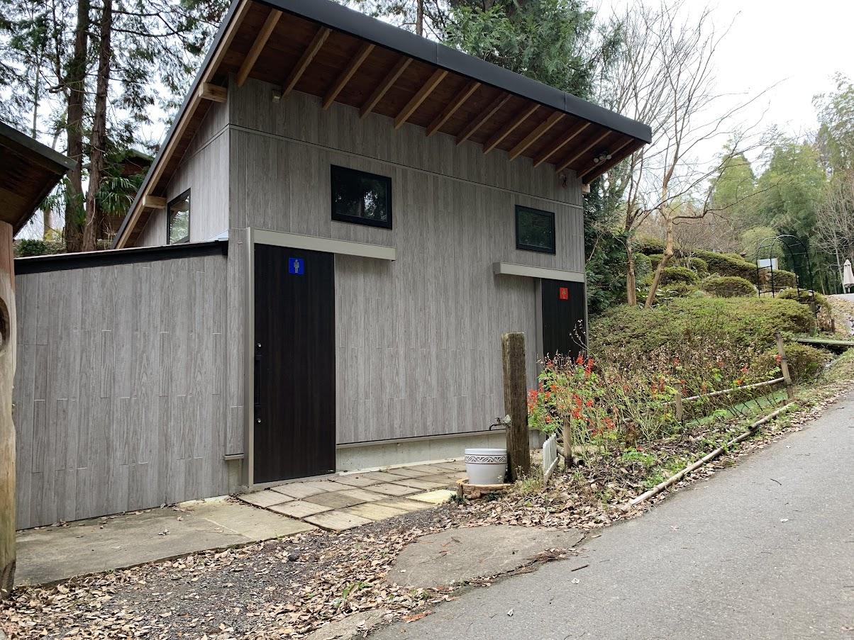柿山田オートキャンプガーデン きれいなトイレ