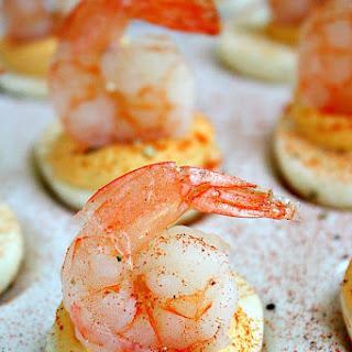 Shrimp Cocktail Deviled Eggs.