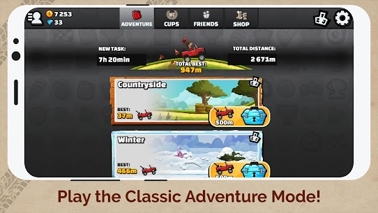 Hill Climb Racing 2 Apk MOD (Unlimited Money) 6