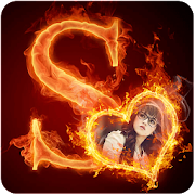 Fire Text Photo Frame