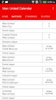 Screenshot of Man United Calendar