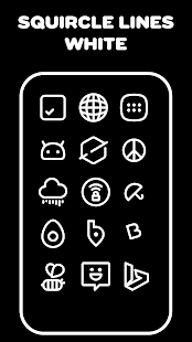 Squircle Lines White - Icon Pack - náhled